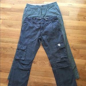 2 pair I Buffalo cargo & GAP pants